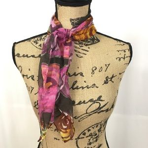 Frenchi Watercolor Floral Scarf Square